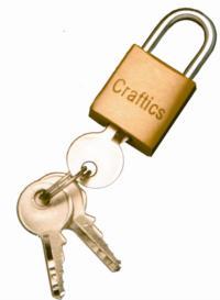 Brass padlock