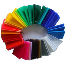 Acrylic color chips